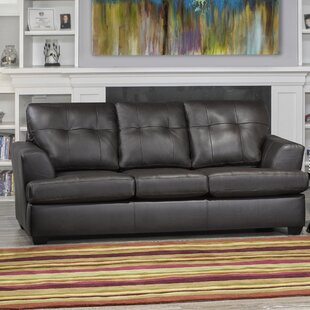 Cowhill Leather Sofa by Orren Ellis New