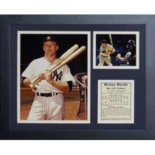 Legends Never Die Joe DiMaggio 11 x 14-Inch Mickey Mantle and Ted Williams Framed Photo Collage