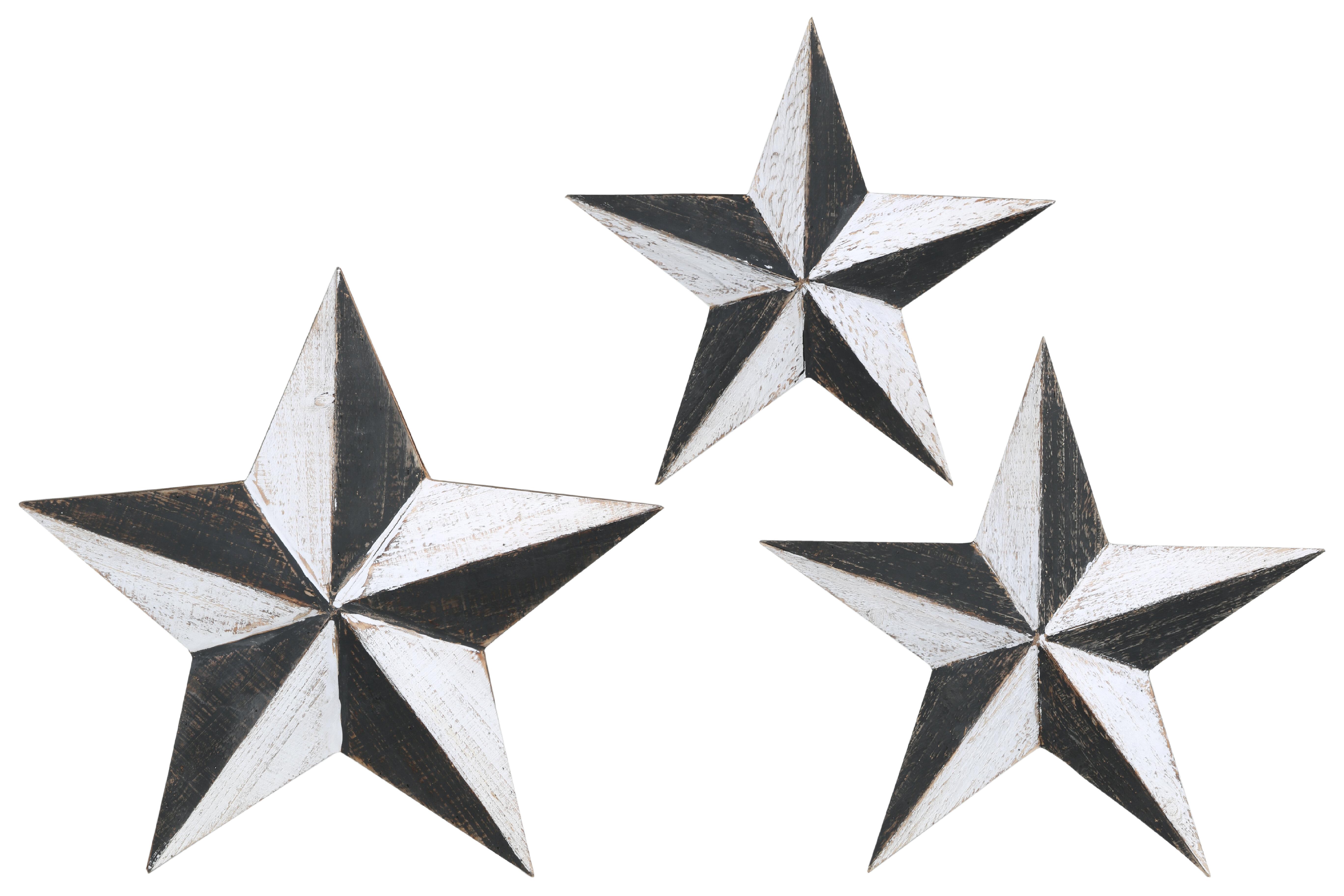 Gracie Oaks 3 Pieces Metal Star Wall
