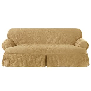 Sure Fit Matelasse Damask T-Cushion Sofa Slipcover