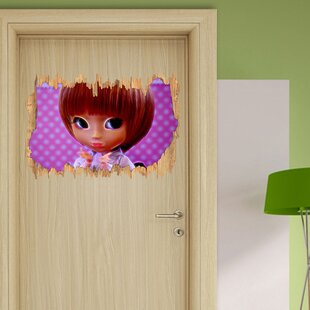 Small Doll In Traditional Kimono Wall Sticker By East Urban Home