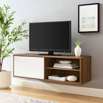 Latitude Run Alisen Floating Tv Stand For Tvs Up To 60 Reviews Wayfair