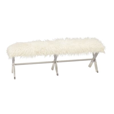 Acrylic Faux Fur Bench by Cole  and  Grey