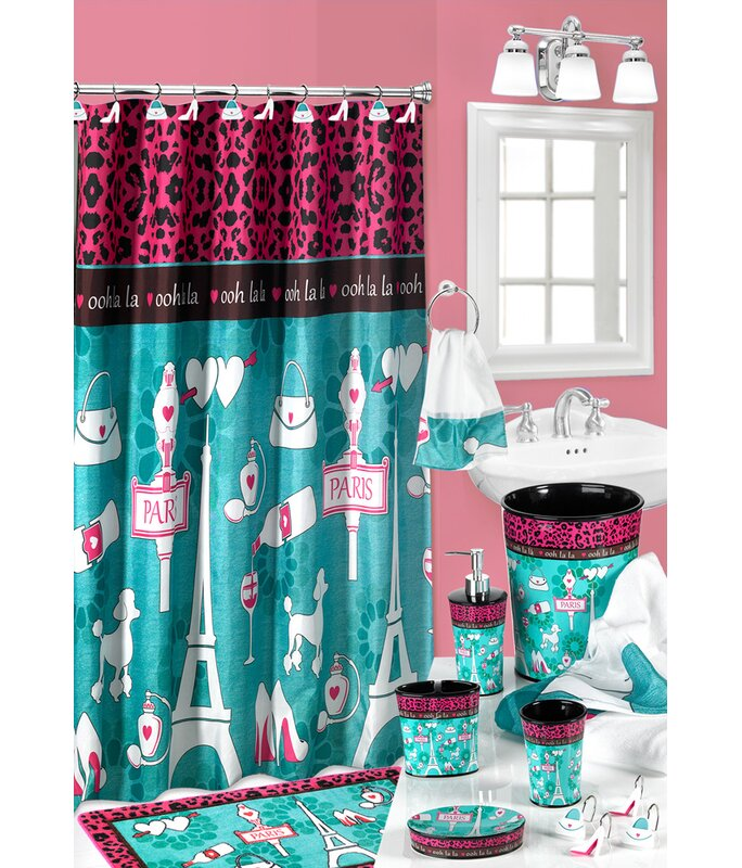 Charest Ooh La Paris Glamour Fabric Shower Curtain