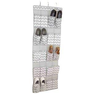 Home Basics 20-Pocket 10 Pair Hanging Shoe Organizer (Set of 2)