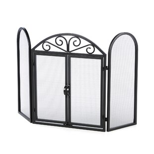 3 Panel Cabinet Style Steel Fireplace Screens By Uniflame