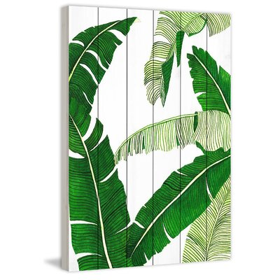 Marmont Hill 'Banana II' Painting Print Format: Wood, Size: 45 H x 30 W x 1.5 D