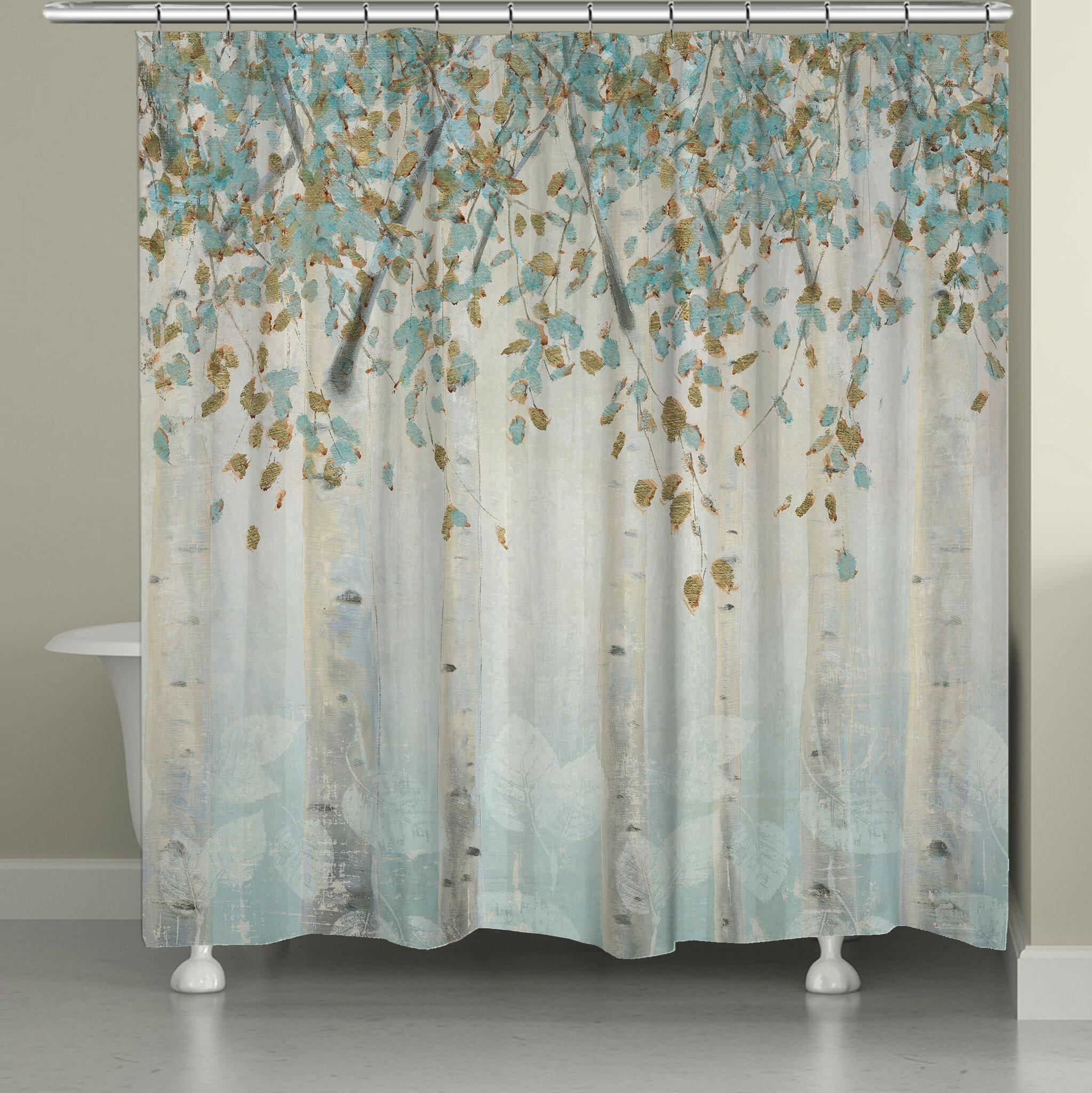 Red Barrel Studio Eneida Dream Forest Single Shower Curtain Reviews Wayfair