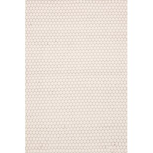 Reviews Rope Hand-Woven White Indoor/Outdoor Area Rug ByDash and Albert Rugs