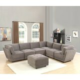 Annely 124 Reversible Modular Sectional with Ottoman by Latitude Run