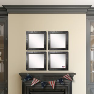 Fleur De Lis Living Claireville Tuscan Ebony Wall Mirror (Set of 4)