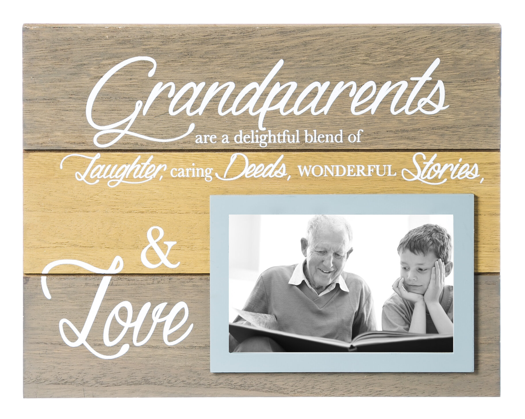 Charlton Home Grandparents Wooden Picture Frame & Reviews   Wayfair