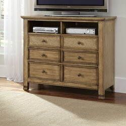 Perfect Kingston Isle 6 Drawer Media Chest