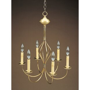 Mission shaker chandeliers youll love wayfair sockets center bulge j arms hanging 6 light candle style chandelier aloadofball Image collections