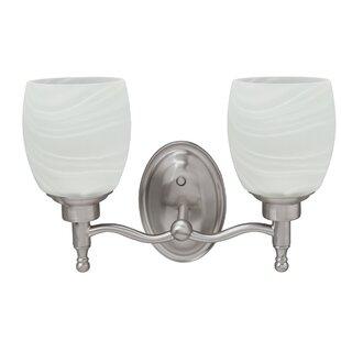 Bargain Hower Metal Bathroom 2-Light Vanity Light By Charlton Home