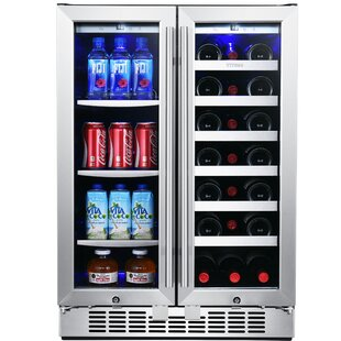 21 Bottle Dual Zone Built-In Wine Cooler