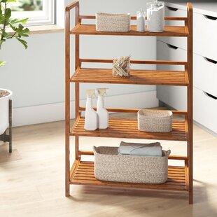 Ben 2775 W x 4125 H x 12 D Solid Wood FreeStanding Bathroom Shelves