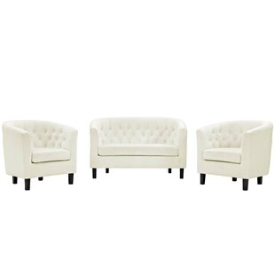 Best Reviews Oxford 3 Piece Living Room Set by House of Hampton Reviews (2019) & Buyer's Guide