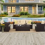 Badia 5 of Pieces in Set Sofa Seating Group with Cushions by Red Barrel Studio®