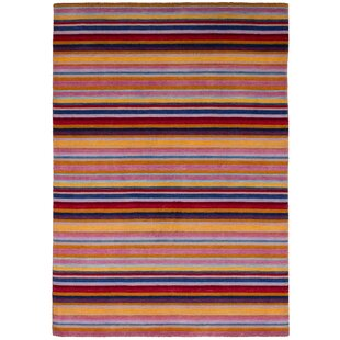 Purchase One-of-a-Kind Groom Hand-Knotted Wool Red/Violet Area Rug By Isabelline