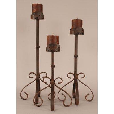 Coast Lamp Mfg. Rustic Living 3 Piece Metal Candlestick Set