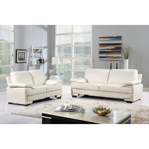 Kristin Leather 2 Piece Living Room Set