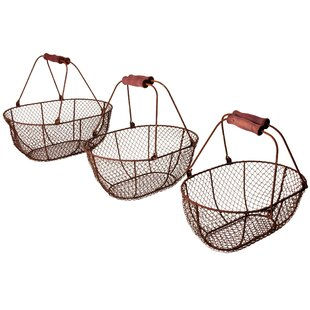 Oval Wire Basket (Set Of 3) By August Grove