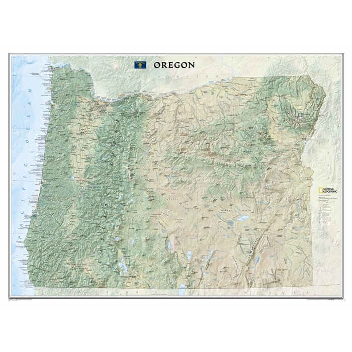 Oregon State Wall Map