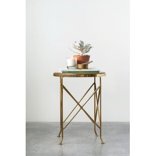 Keever Mango Wood End Table by Bungalow Rose