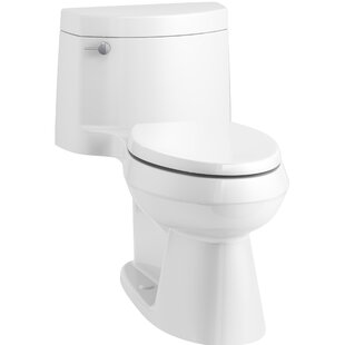 Kohler Cimarron Comfort Height One-Piece Elongated 1.28 GPF Toilet with Aq..