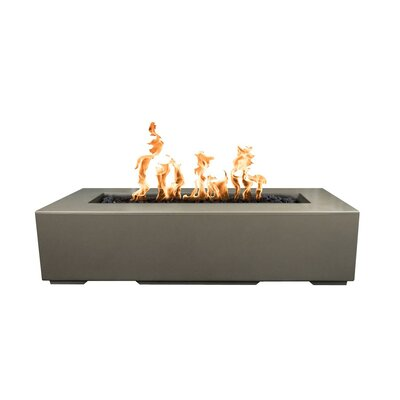 "The Outdoor Plus Regal Electronic Ignition Concrete Fire Pit  Size: 13"" H x 24"" W x 48"" D, Fuel Type: Liquid Propane, Finish: Ash"