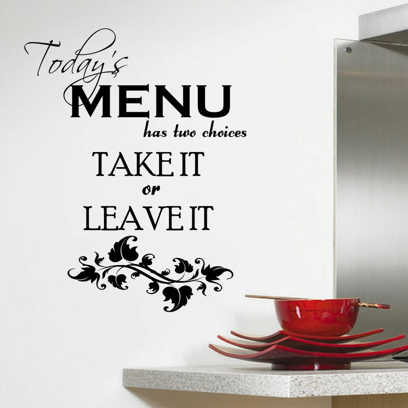 Elegant Todayu0027s Menu Kitchen Wall Decal