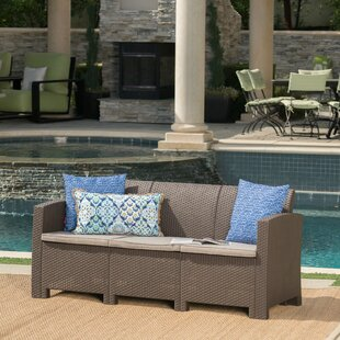 Yoselin Outdoor Patio Sofa with Cushions by Andover Mills