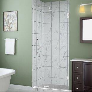 Kinkade 23 x 72 Hinged Frameless Shower Door by Aston