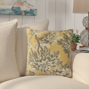 Haeli Floral Down Filled 100% Cotton Throw Pillow