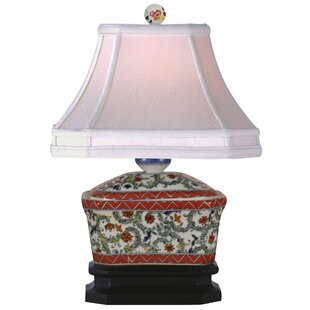 Reviews Porcelain Tea Candy Box 15 Table Lamp By Oriental Furniture