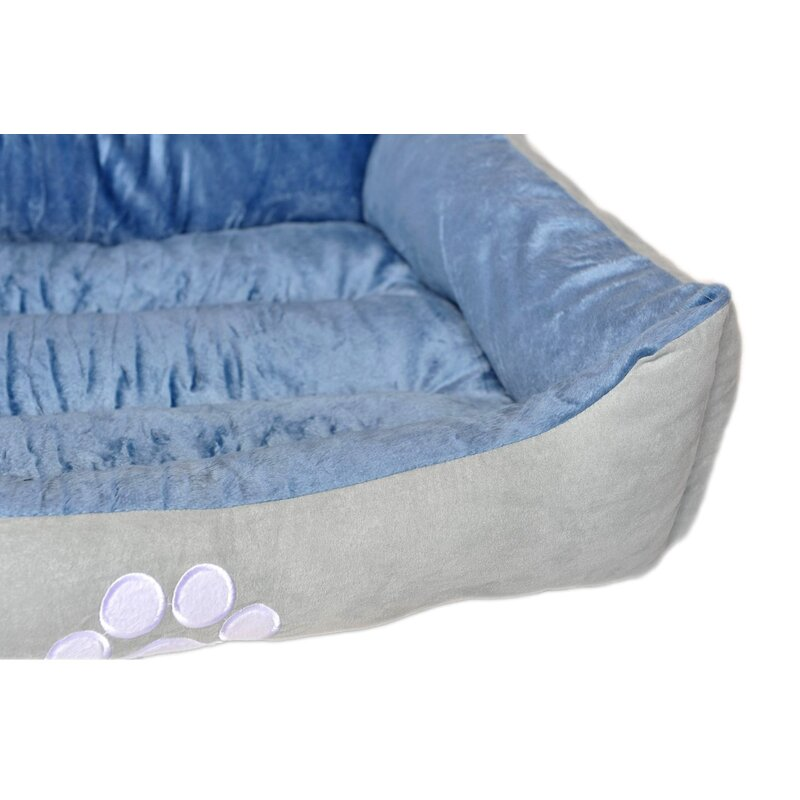 "Grey sherpa fleece /""Paw Print/"" dog bed fabric 64/"" wide"
