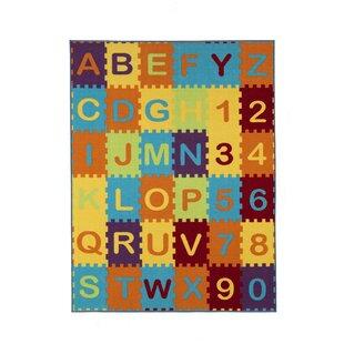 Malik Puzzle Educational Alphabet Area Rug