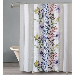 Almaguer Dahlia Cotton Shower Curtain