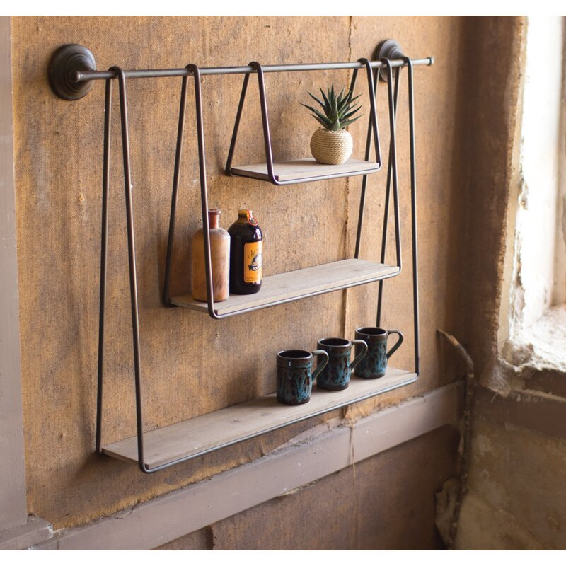 Gracie Oaks Sirmans Triple Hanging Wall