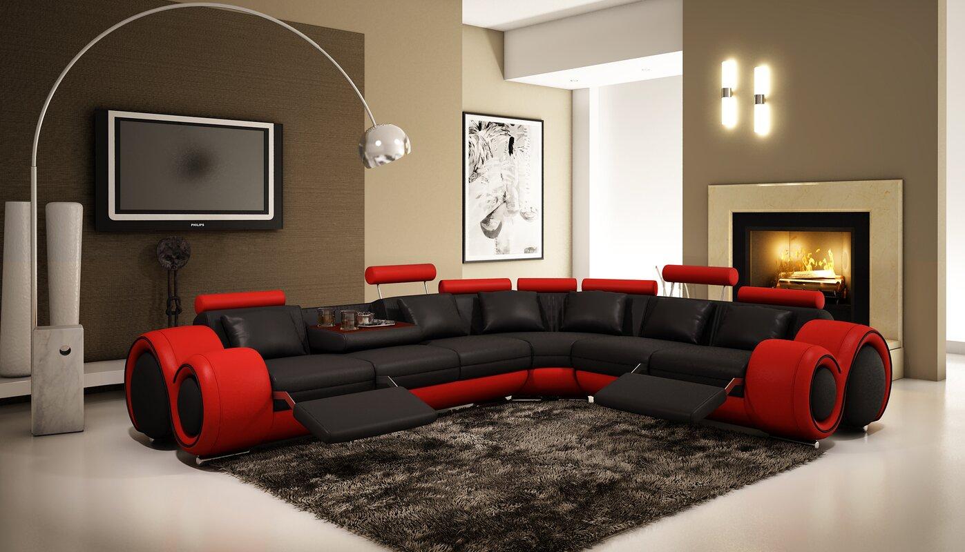 Hokku Designs Reclining Sectional & Reviews