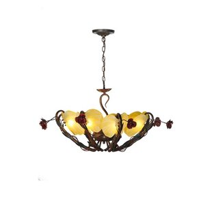 Meyda Tiffany Rose Coils 8-Light Shaded Chandelier
