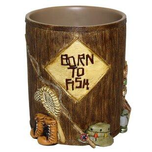 Bacova Guild Born to Fish Waste Basket