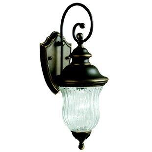 Top Brands of Barrowbrook 1-Light Outdoor Wall Lantern By Astoria Grand