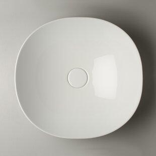 WS Bath Collections Pod Ceramic Circular Vessel Bathroom Sink