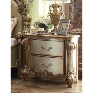 Stuckey Wooden 2 Drawer Nightstand by Astoria Grand