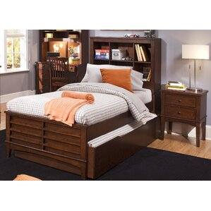Roberta Youth Bedroom Bookcase Headboard in Burnished Tobacco by Viv + Rae