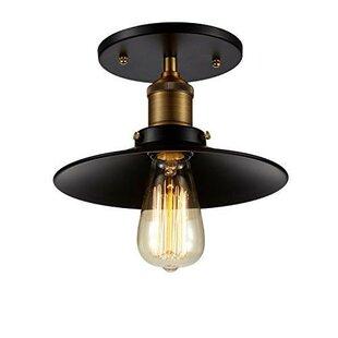 Edison 1-Light Semi Flush Mount by OHR Lighting