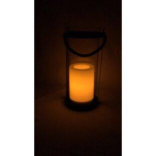 Frinton Black Solar Powered LED Outdoor Lantern Image