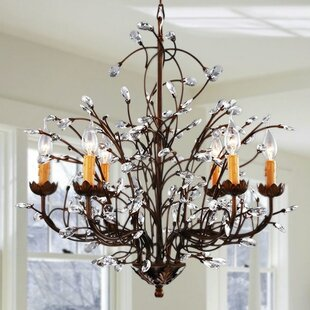 Shopping for West Oak Lane Crystal and Iron 6-Light Chandelier By Gracie Oaks
